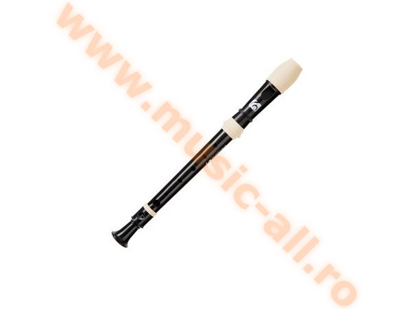 Kirstein C Soprano Recorder German Fingering With Double Hole Black/White