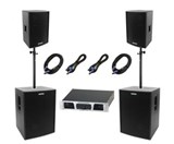 Pronomic Stage Pro I Complete PA System 2,400 Watts