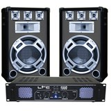 DJ15BG SET BOXE 15 inch BASIC GRI+ AMPLIFICATOR LTC1000